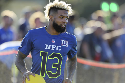 0dc25b95ba8 New York Giants Odell Beckham Jr. (13) competes in the Epic Pro Dodgeball