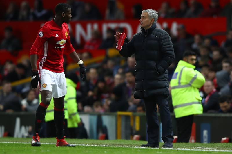 Image result for pogba with mourinho