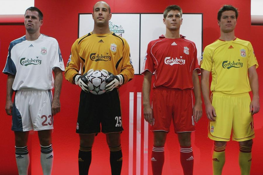 3dd4bd1d Ranking Liverpool's Change Kits During the Premier League Era | Bleacher  Report | Latest News, Videos and Highlights