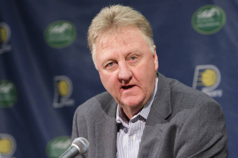 ff03ec861e2 INDIANAPOLIS - MAY 16: President Larry Bird introduces Nate McMillan as the  new head coach