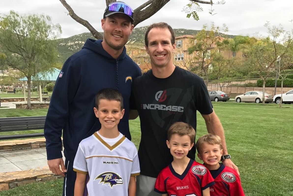 Former Teammates Drew Brees And Philip Rivers Watch Sons Play Flag Football Bleacher Report Latest News Videos And Highlights