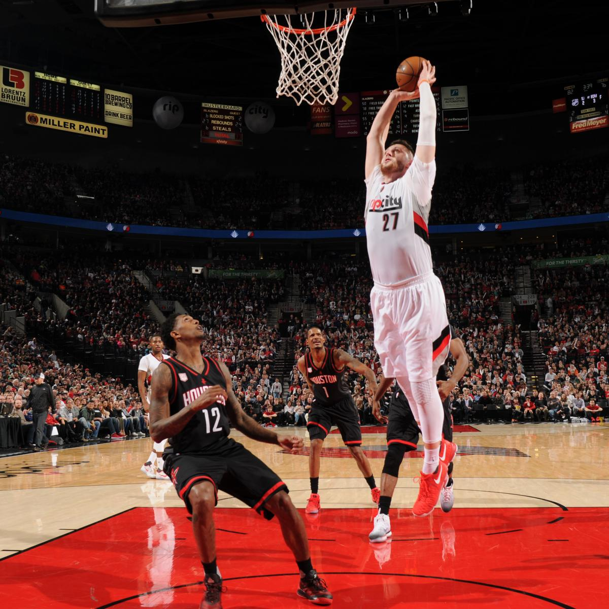 Blazers Injury Report: Jusuf Nurkic's Leg Injury Diagnosed As A Fracture, Out At