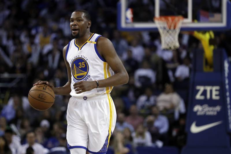a2bc6181eab2 Golden State Warriors  Kevin Durant (35) during the second half of an NBA. Marcio  Jose Sanchez Associated Press