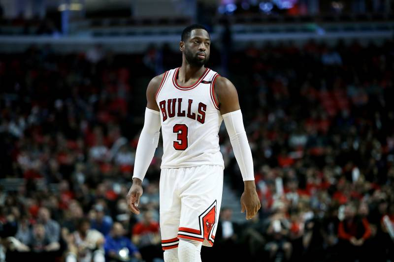 Dwyane wade bulls reach contract buyout after 1 season in chicago chicago il april 12 dwyane wade 3 of the chicago bulls walks voltagebd Images