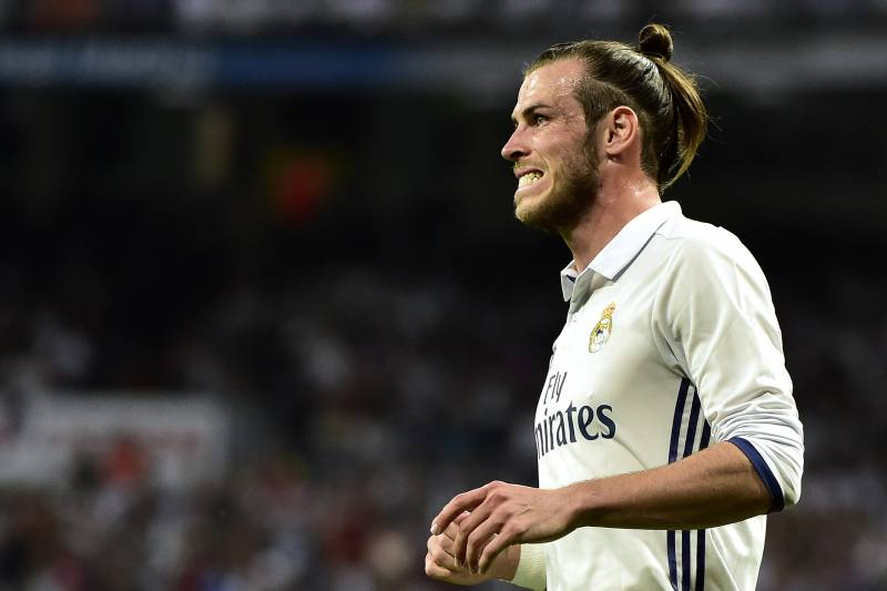 afe7200a79e Real Madrid s Welsh forward Gareth Bale grimaces after missing a goal  opportunity during the Spanish league