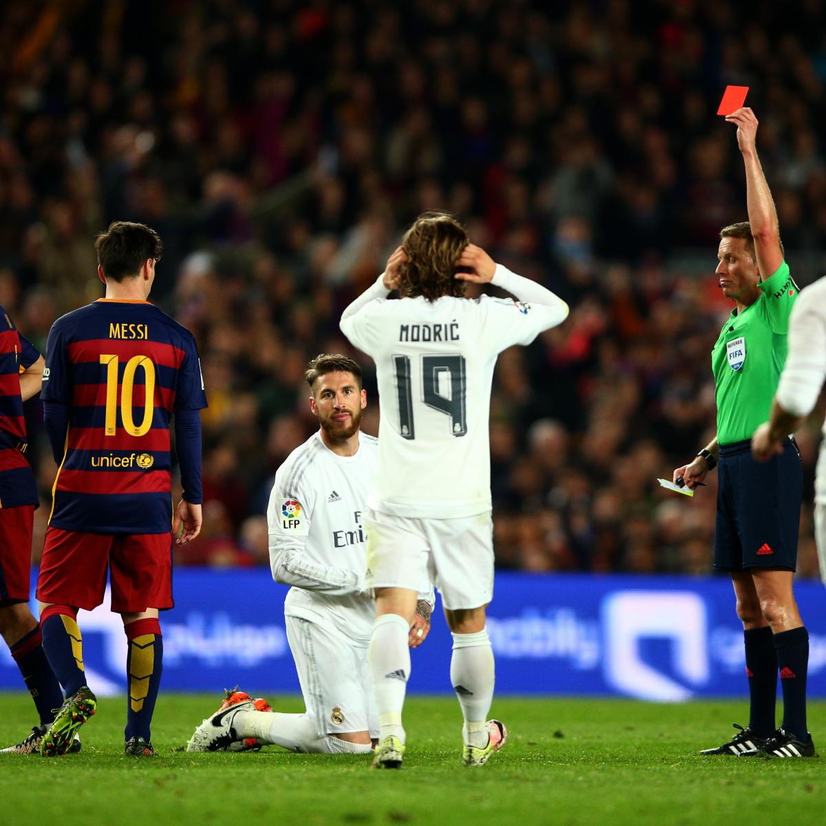 Ranking Of Sergio Ramos Most Costly Red Cards Bleacher Report Latest News Videos And Highlights