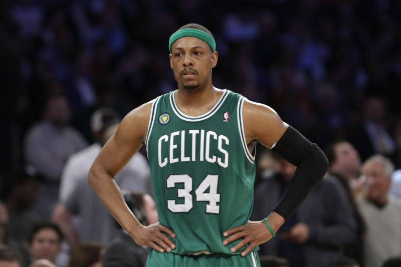 promo code 024b7 56201 Paul Pierce's No. 34 Boston Celtics Jersey to Be Retired ...