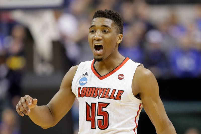 low priced c6268 677d3 Donovan Mitchell Picked No. 13 in NBA Draft, Nuggets to ...
