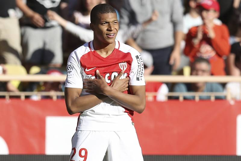 882ea818e04 Kylian Mbappe strikes his already-familiar celebration pose after scoring  for Monaco against Toulouse on