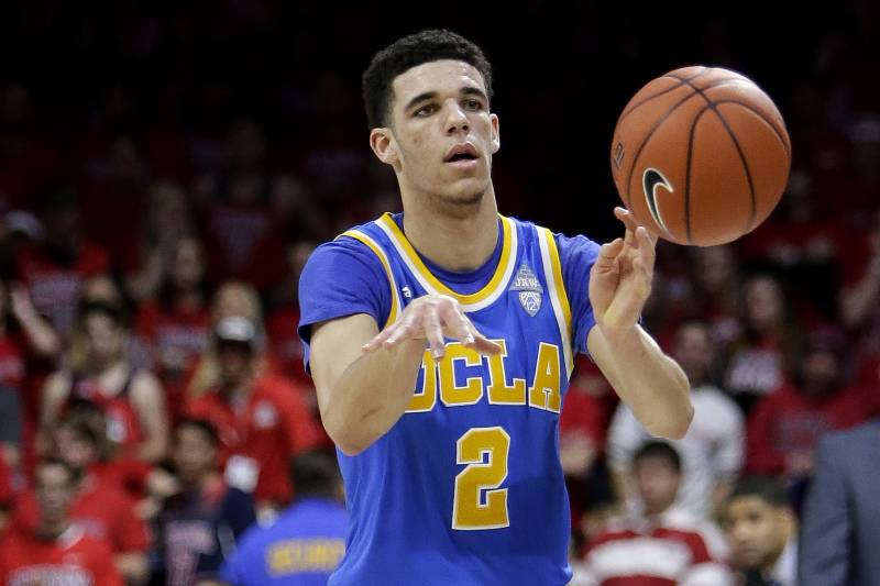 2abb1fc581f UCLA guard Lonzo Ball (2) during the first half of an NCAA college  basketball