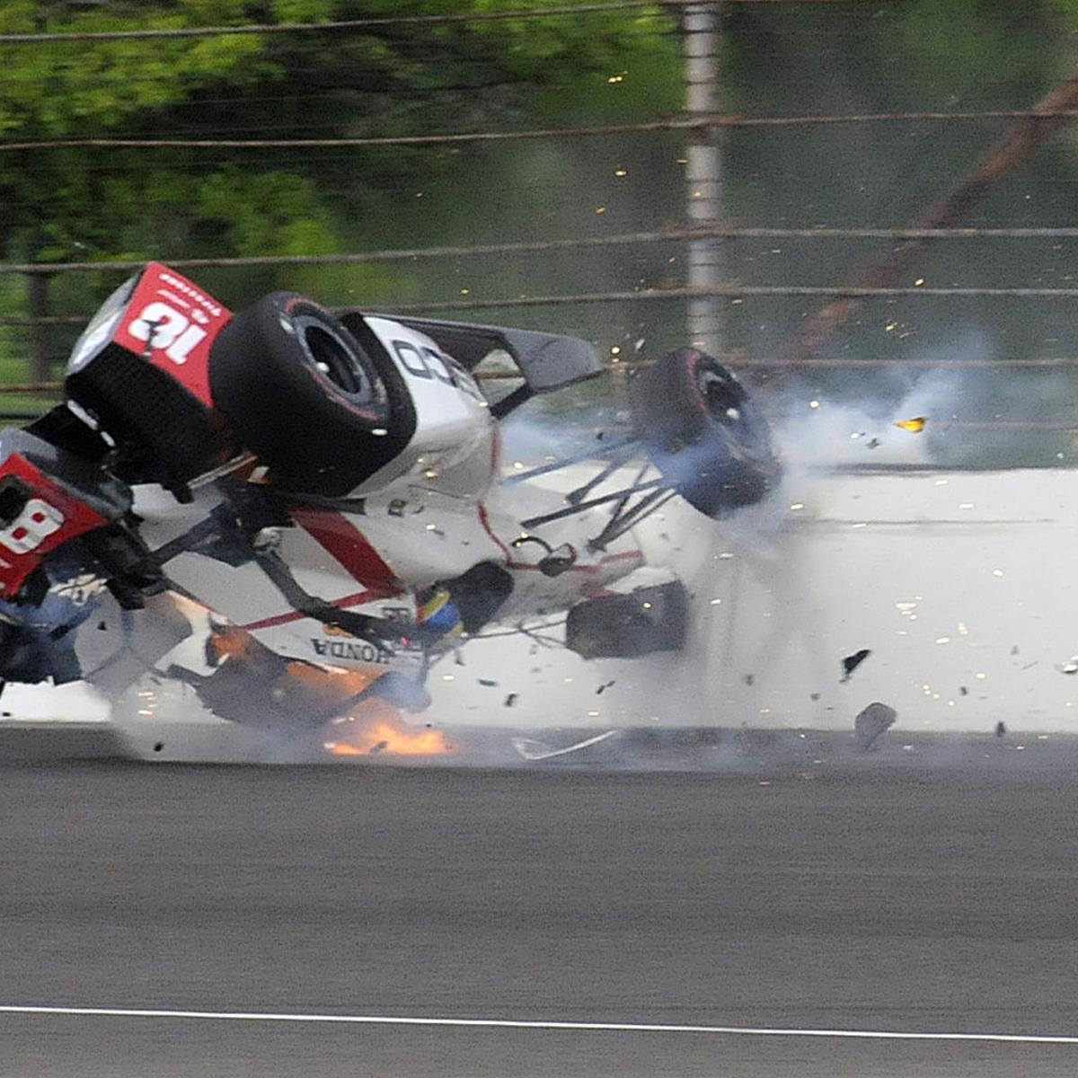 sebastien bourdais to have surgery after fiery crash in indy 500 qualifying bleacher report. Black Bedroom Furniture Sets. Home Design Ideas