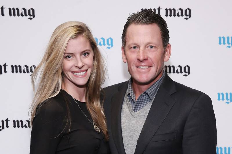 NEW YORK, NY - FEBRUARY 18:  Anna Hansen and professional cyclist Lance Armstrong attend The New York Times Magazine Relaunch Event on February 18, 2015 in New York City.  (Photo by Neilson Barnard/Getty Images)