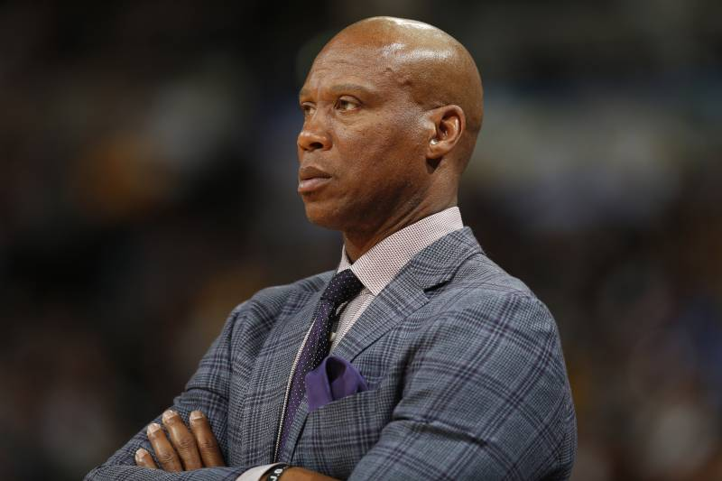 48adae3f5 Los Angeles Lakers head coach Byron Scott in the second half of an NBA  basketball game