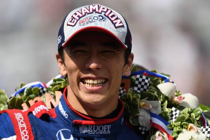 Image result for Takuma Sato wins Indy 500