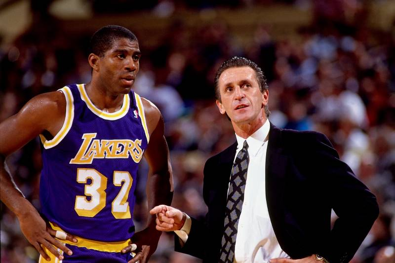 4a9ec66b2 Pat Riley Says Magic Johnson Is Greatest Player in NBA History. Rob  Goldberg TheRobGoldberg Featured ColumnistInvalid Date Comments. NEW YORK -  1990  Magic ...