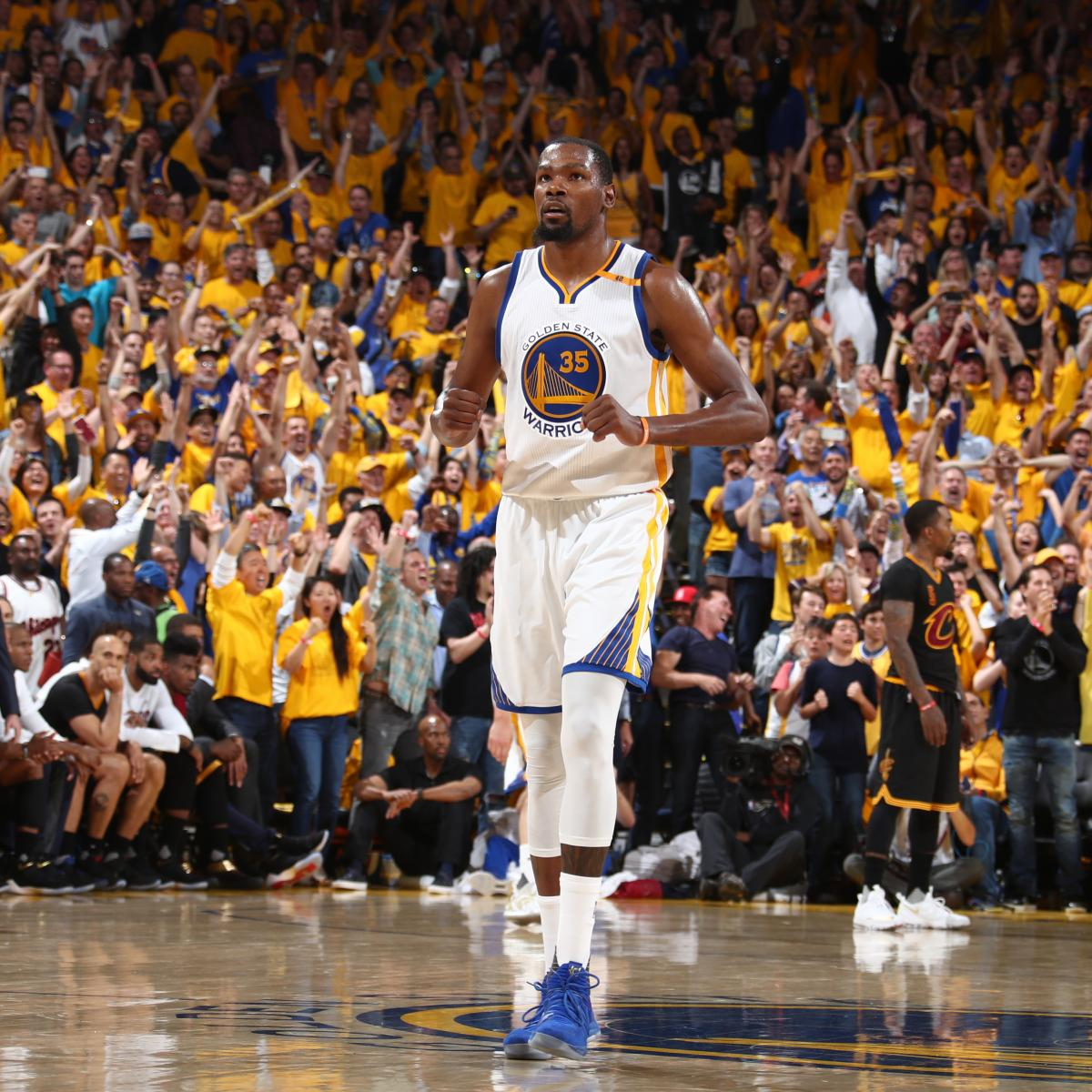 Kevin Durant, Warriors Beat Cavaliers in Game 5 to Win 2017 NBA Championship | Bleacher Report ...