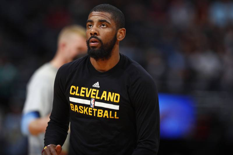 d43ceaccd5a9 Cleveland Cavaliers guard Kyrie Irving (2) in the first half of an NBA  basketball