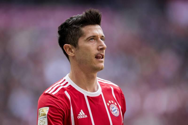 e15dc5a48b1 MUNICH, GERMANY - MAY 20: Robert Lewandowski of FC Bayern Muenchen looks on  during