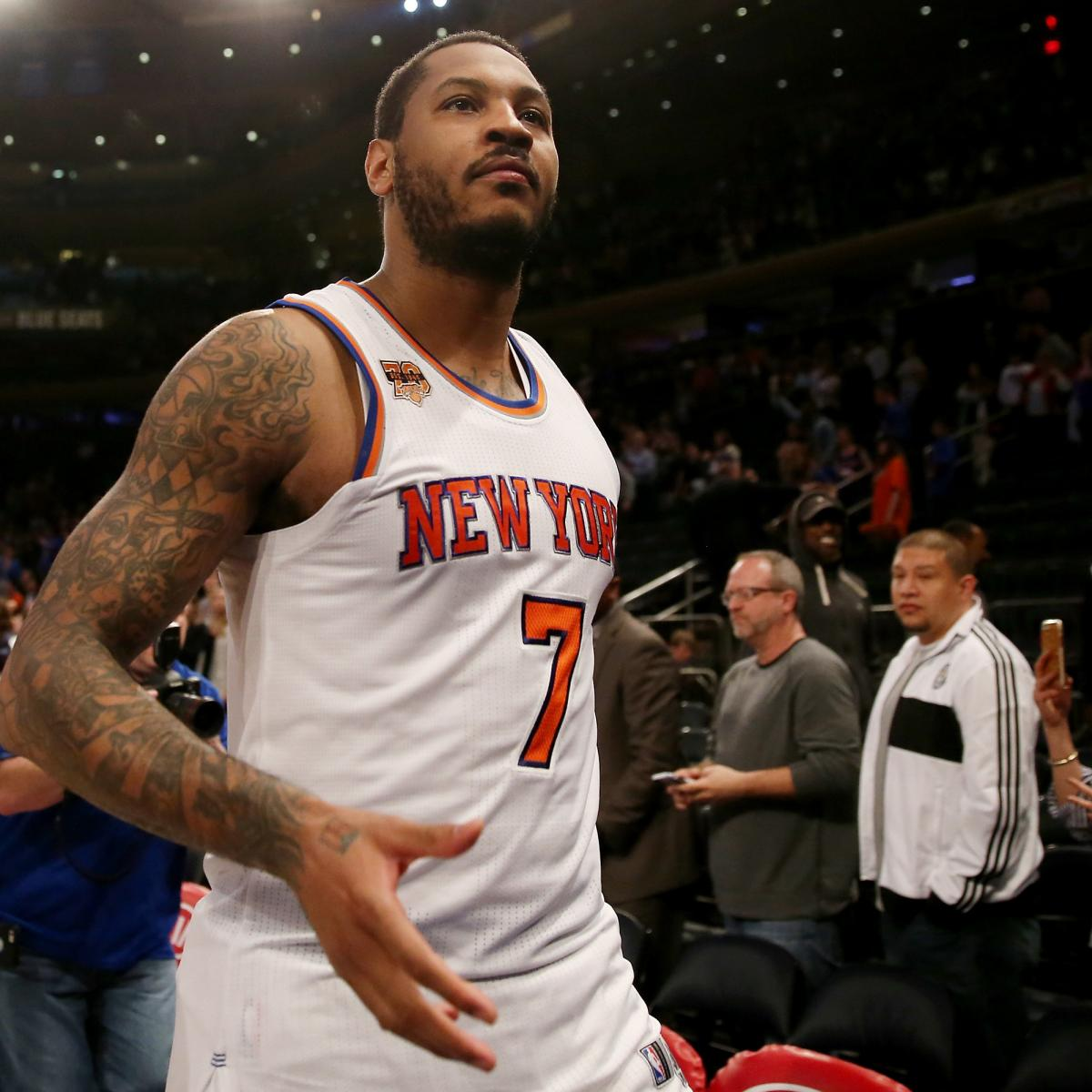 Carmelo Anthony Reportedly Tried to Enter Knicks Contract ...