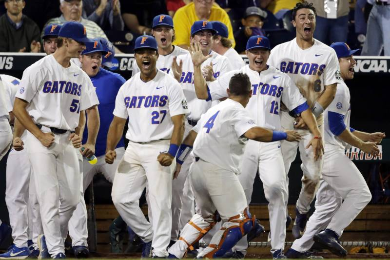 sale retailer 92f6c 48bff Florida Completes Sweep of LSU to Win College World Series ...