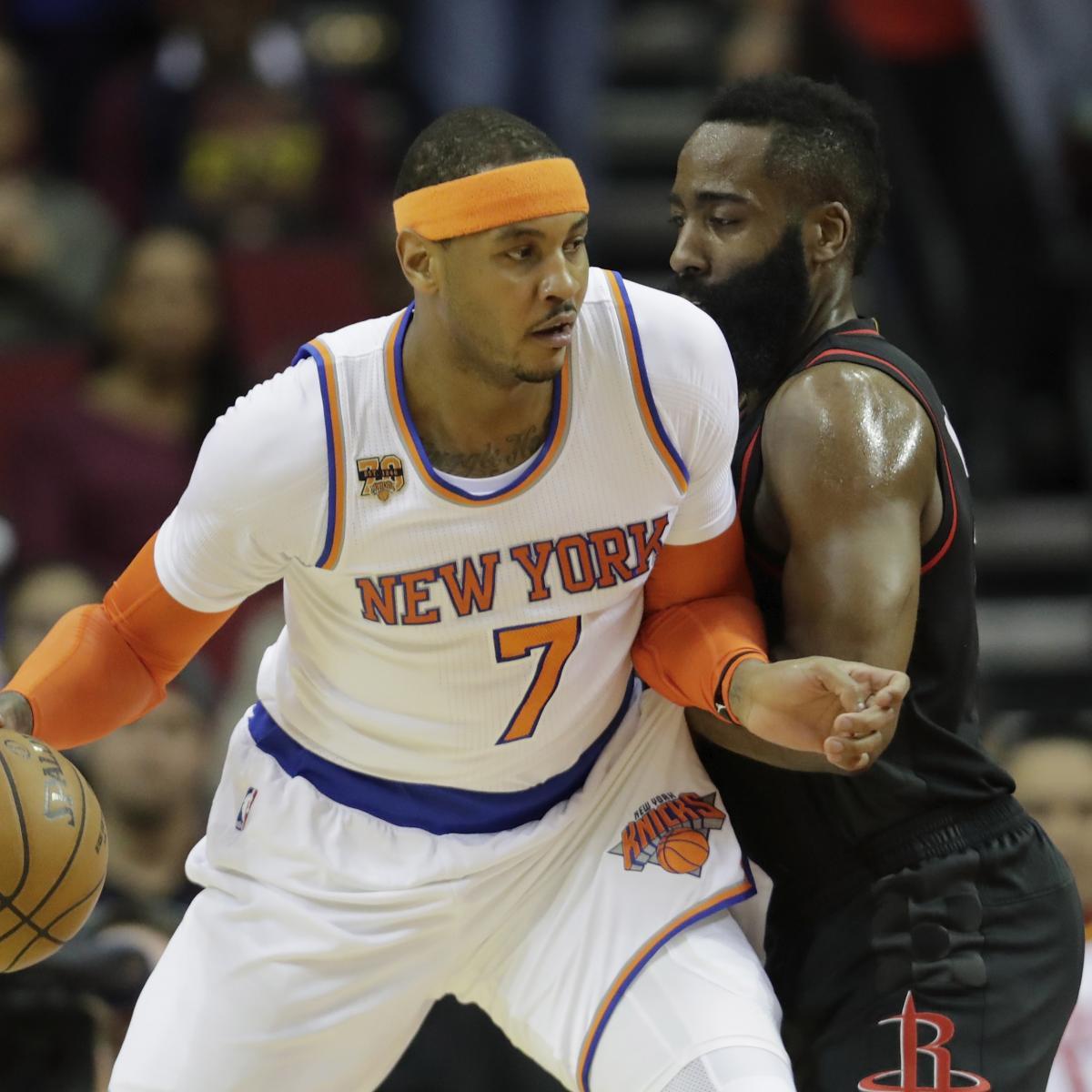 Carmelo Anthony Trade Rumors: Knicks, Rockets Talks ...