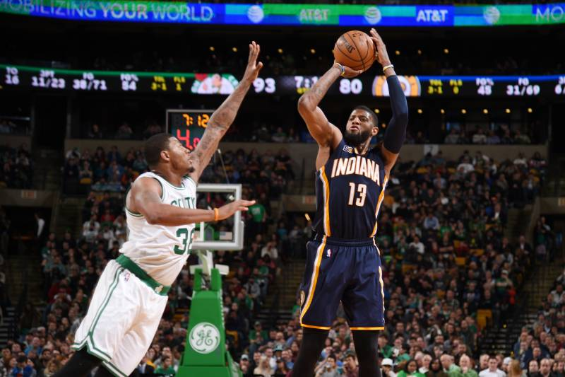 low priced 2c2a9 a0d21 Paul George Rumors: Celtics Rejected Offer Included 3 1st ...