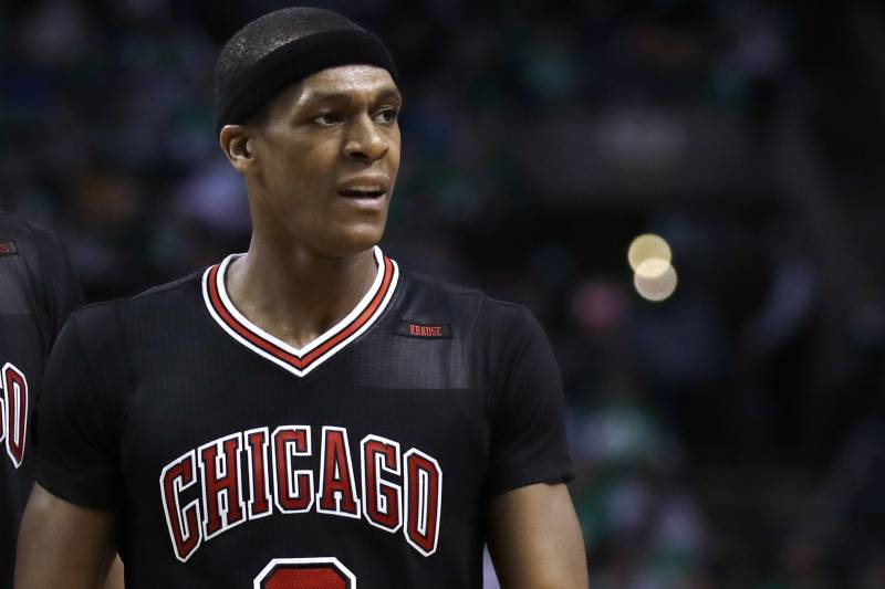 26c529d08489 Chicago Bulls guard Rajon Rondo (9) during the second quarter of a first-