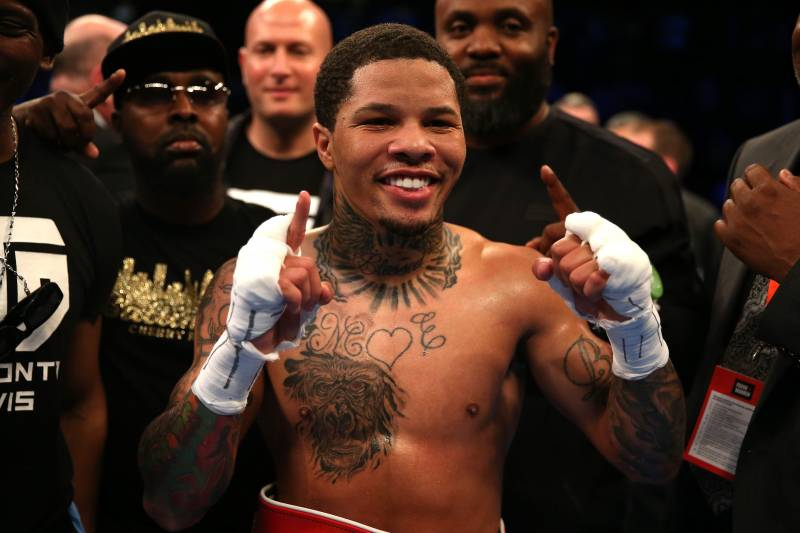 LONDON, ENGLAND - MAY 20: Gervonta Davis of The United States celebrates following his fight with Liam Walsh of England in the IBF World Junior Lightweight Championship match at Copper Box Arena on May 20, 2017 in London, England. (Photo by Alex Pantling/Getty Images)