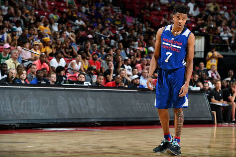 d11715c14bc3 Markelle Fultz Leaves Summer League Game vs. Warriors with Ankle ...