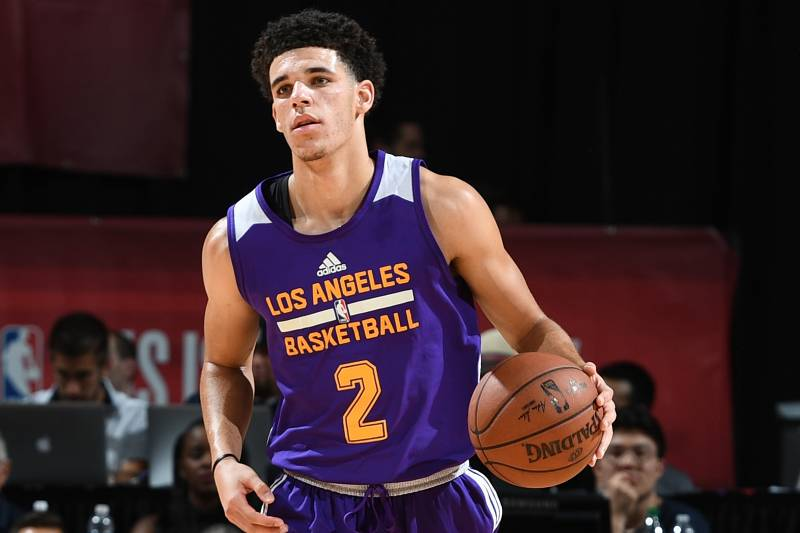 e6081adc5 Lonzo Ball Drops 2nd Triple-Double in Lakers vs. Cavaliers Summer ...