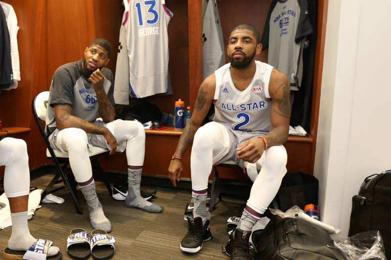 timeless design f034e 564c3 Kyrie Irving, Joel Embiid, Paul George and More React to ...