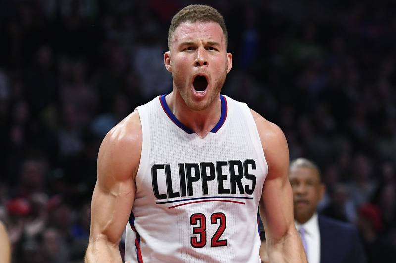 e1a35281db5 Los Angeles Clippers forward Blake Griffin yells at a referee during the  second half of an