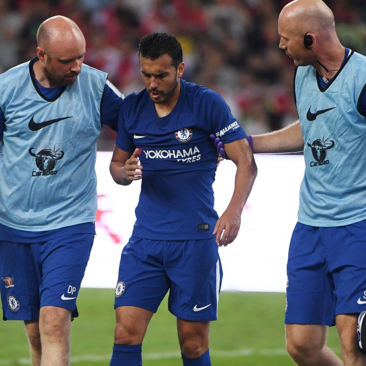 Preseason Friendlies Wrap Guardiola Vs Barcelona Wins: Pedro Suffers Suspected Concussion In Chelsea's Win Vs