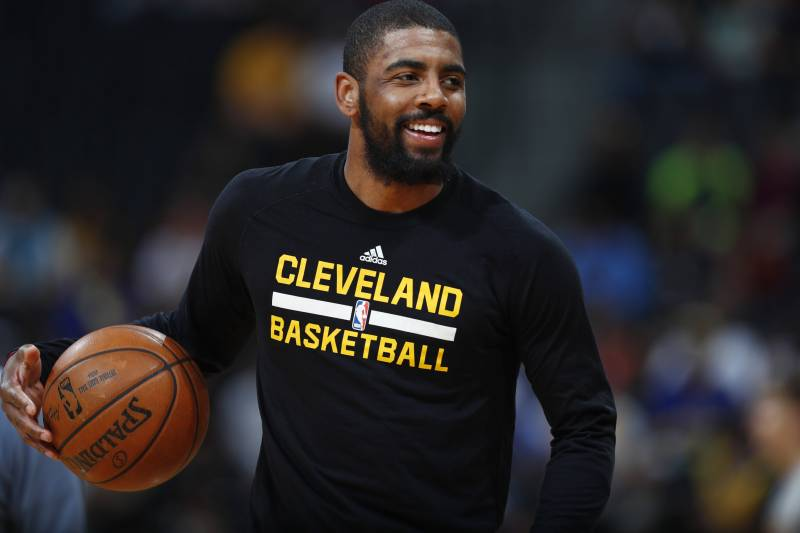 404a87a218f2 Cleveland Cavaliers guard Kyrie Irving (2) in the first half of an NBA  basketball