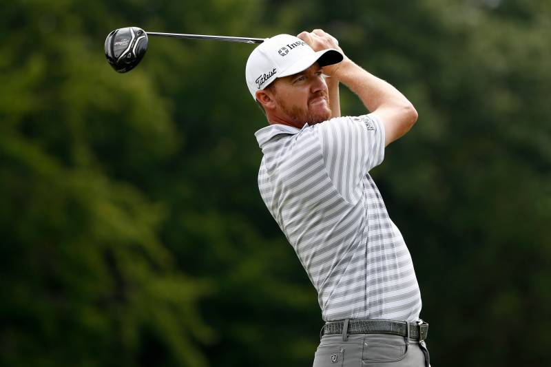 AKRON, OH - AUGUST 04: Jimmy Walker hits off the sixth tee during the