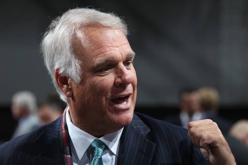 NEWARK, NJ - JUNE 30:  President, CEO and Alternate Governor Jim Lites of the Dallas Stars speaks on the draft floor during the 2013 NHL Draft at the Prudential Center on June 30, 2013 in Newark, New Jersey.  (Photo by Bruce Bennett/Getty Images)