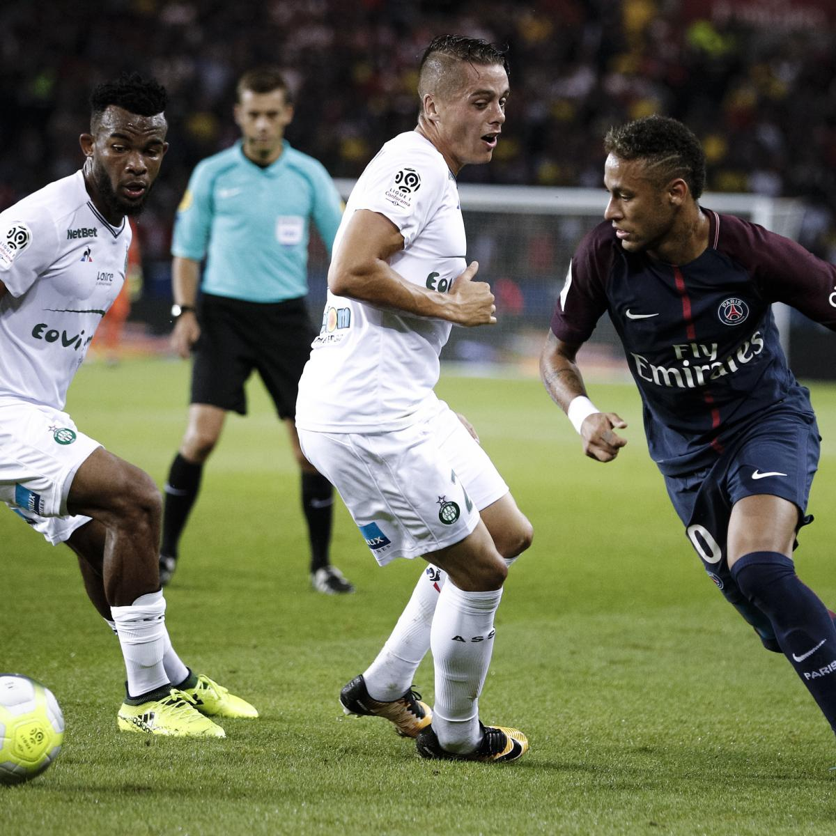Bastia 0 3 Psg Match Report: Neymar Anonymous As PSG Beat St.-Etienne 3-0 In Ligue 1