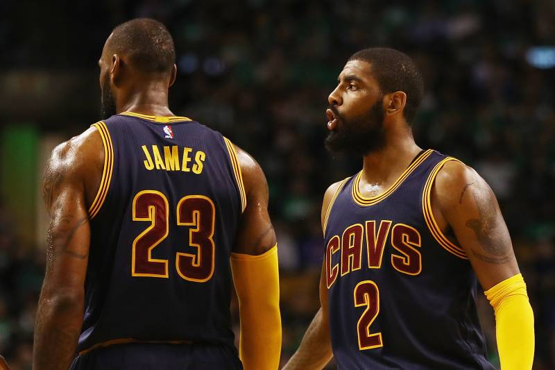f7147a005 Kyrie Irving Says He Hasn't Spoken to LeBron James Since Trade to ...