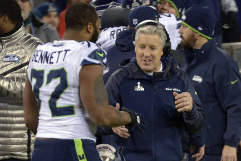 premium selection 495f9 801d3 Pete Carroll Says Seahawks Support Michael Bennett, 'Anyone ...