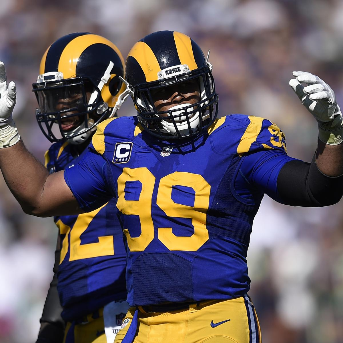 Defensive tackle Aaron Donald said he wont show up to the Rams OTAs as he looks to restructure his contract