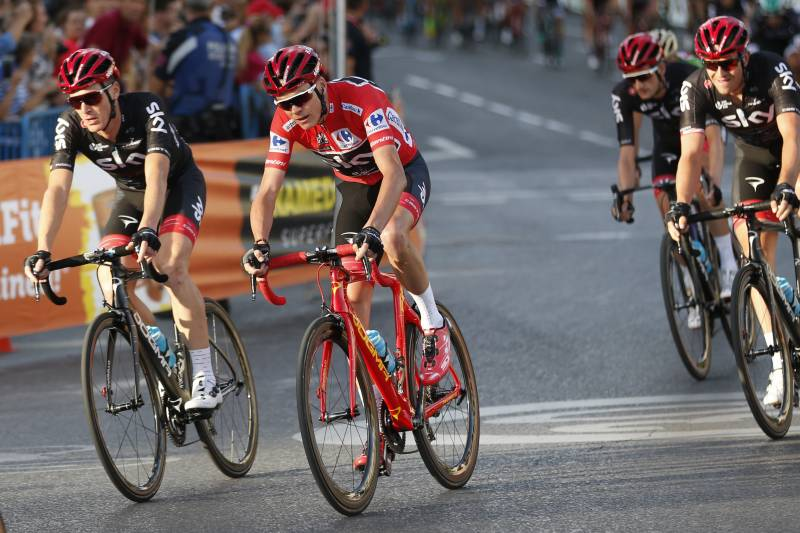 ff7541efb Britain s Chris Froome pedals on his way to win the Spanish Vuelta cycling  race