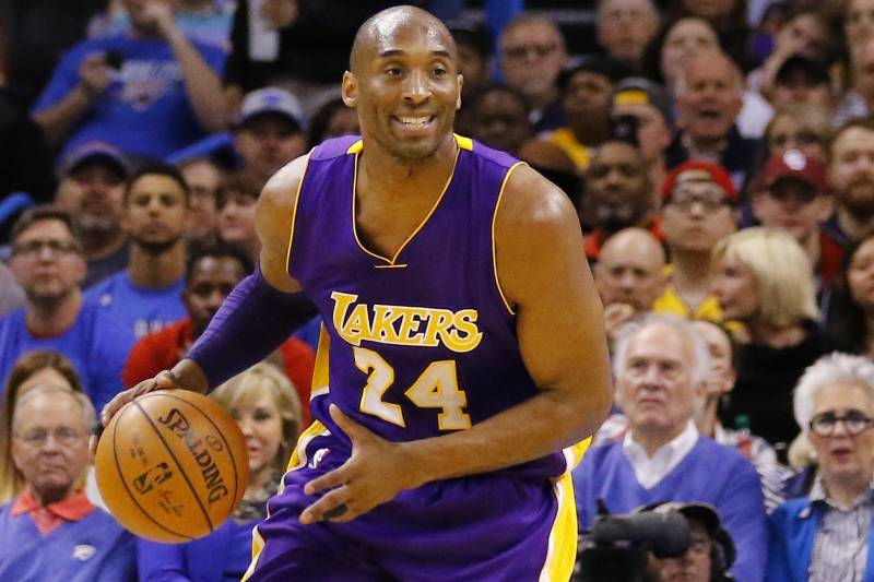 59aa2cafd Los Angeles Lakers forward Kobe Bryant (24) drives down the court against  the Oklahoma