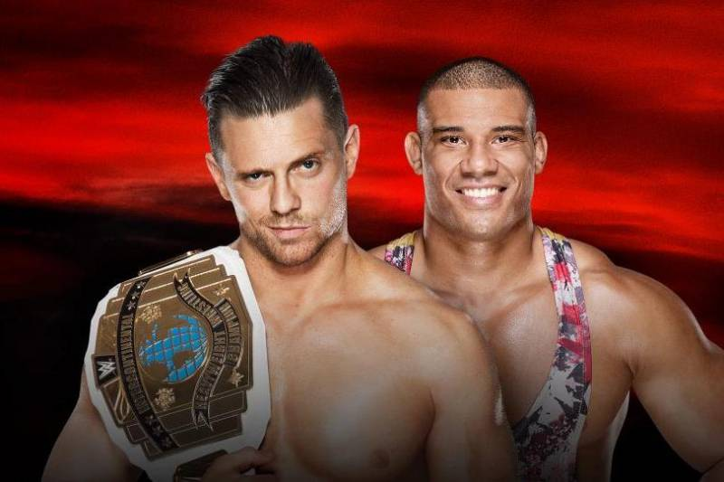 Image result for no mercy 2017 WWE Intercontinental Title Jason Jordan vs The Miz
