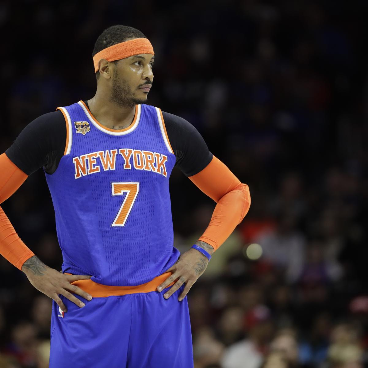 Carmelo Anthony Trade Rumors: SF Pushing for Move Before ...