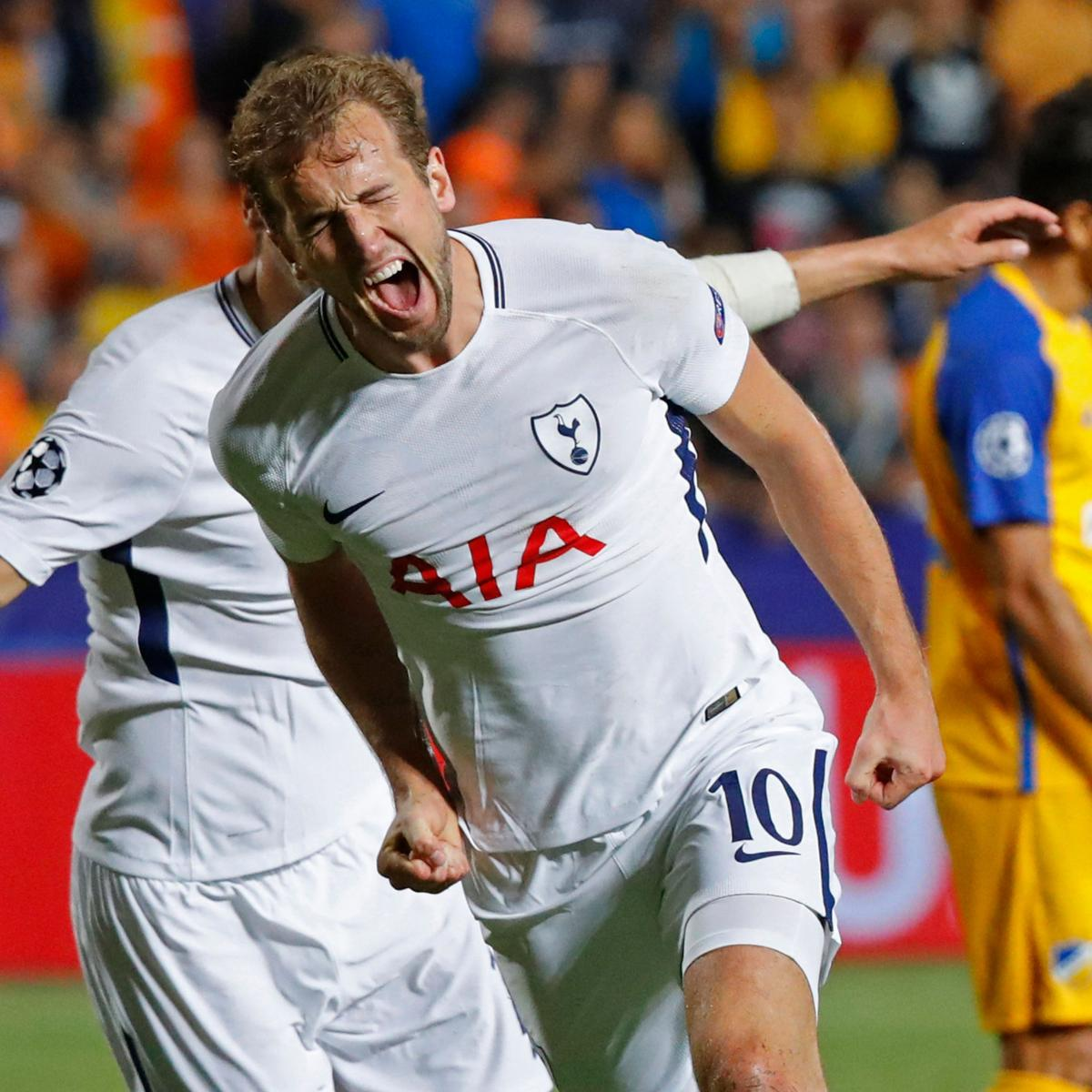 Tottenham 3 Fulham 1 Match Highlights Harry Kane Scores: Champions League Results 2017: Latest Group Tables After