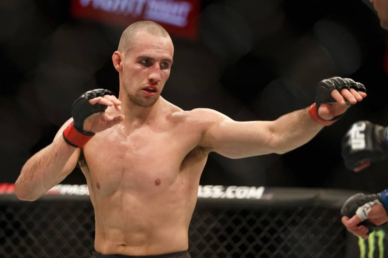 OTTAWA, ON - JUNE 18: Rory MacDonald competes in his welterweight bout against Stephen Thompson during the UFC Fight Night event inside the TD Place Arena on June 18, 2016 in Ottawa, Ontario, Canada. (Photo by Andre Ringuette/Zuffa LLC/Zuffa LLC via Getty Images)