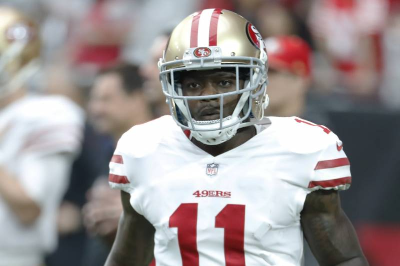 buy online 343f1 598ac 49ers' Marquise Goodwin Diagnosed with 4th Concussion in ...
