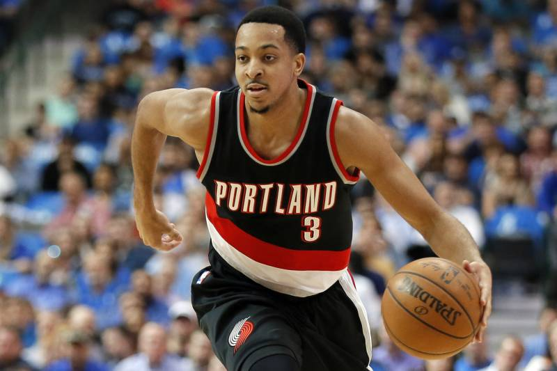 5beefbfed Portland Trail Blazers  C.J. McCollum (3) handles the ball during an NBA  basketball