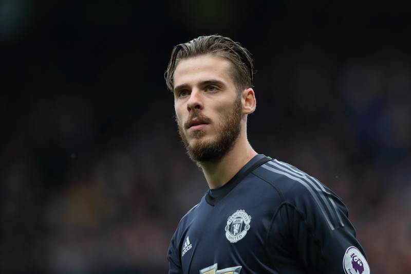 MANCHESTER, ENGLAND - SEPTEMBER 17: David De Gea of Manchester United during the Premier League match between Manchester United and Everton at Old Trafford on September 17, 2017 in Manchester, England. (Photo by Matthew Ashton - AMA/Getty Images)