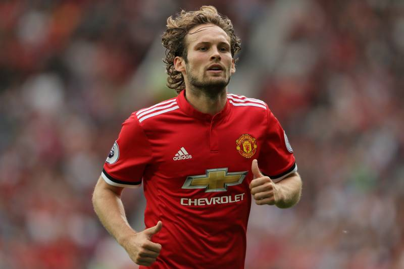 MANCHESTER, ENGLAND - AUGUST 13: Daley Blind of Manchester United during the Premier League match between Manchester United and West Ham United at Old Trafford on August 13, 2017 in Manchester, England. (Photo by Matthew Ashton - AMA/Getty Images)